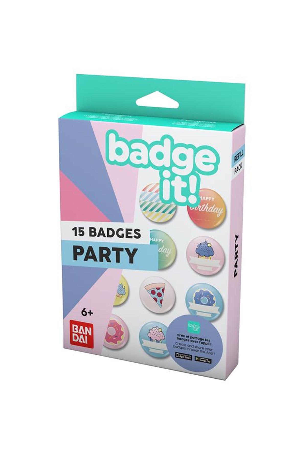 BadgeIt! Party - zestaw przypinek 3Y35J0