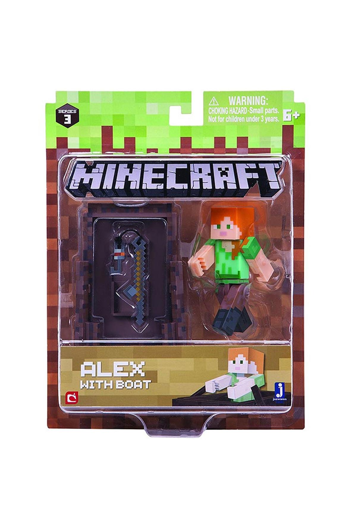 Figurka Alex z łodzią Minecraft 1Y36OK
