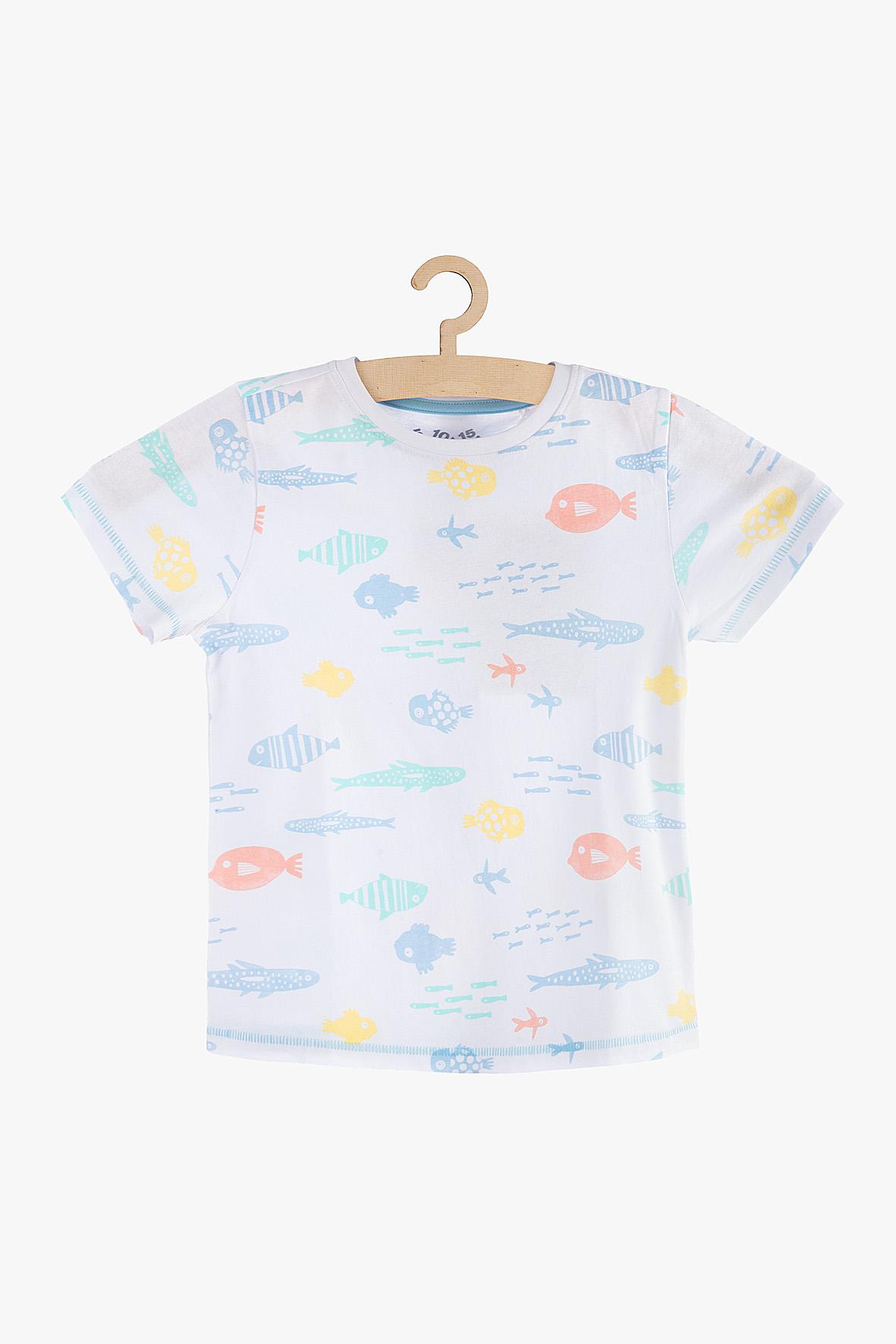 T-shirt chłopięcy biały 1I3822