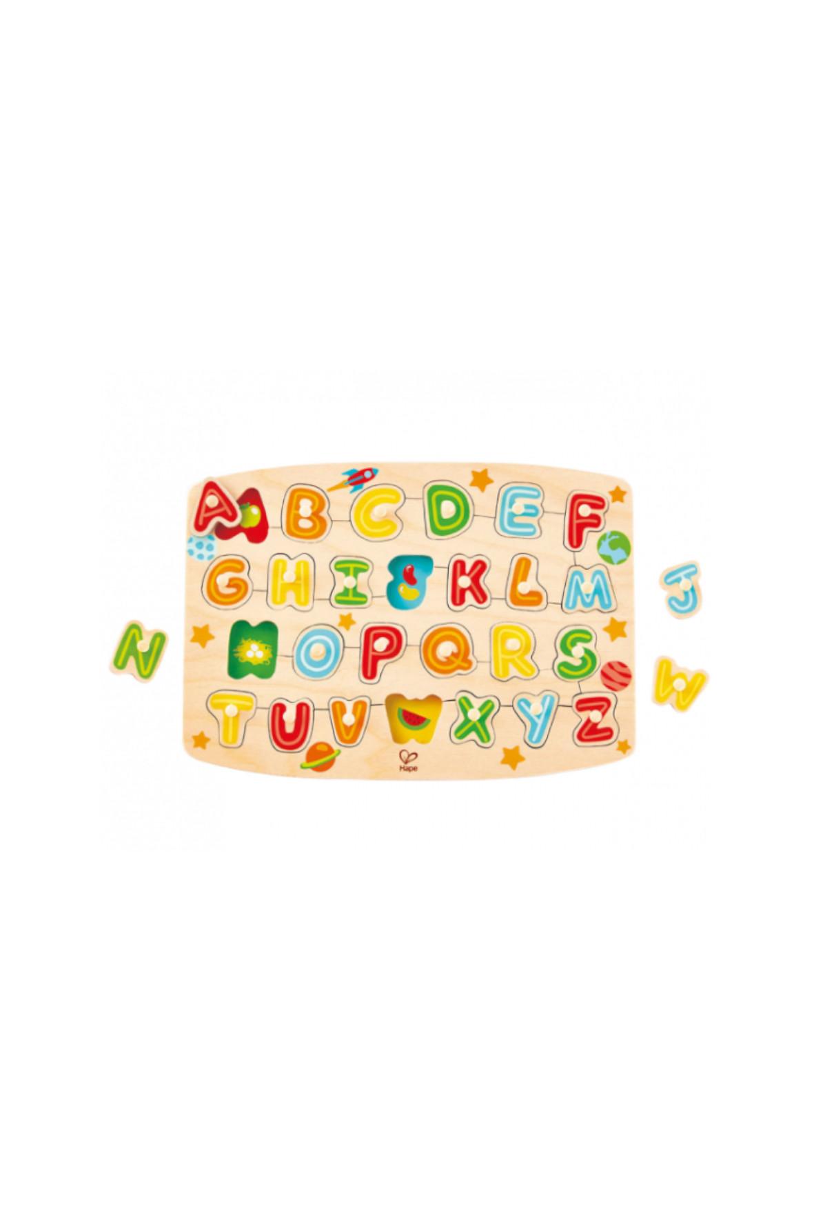 Alfabet -układanka z kołkami 5O38FC