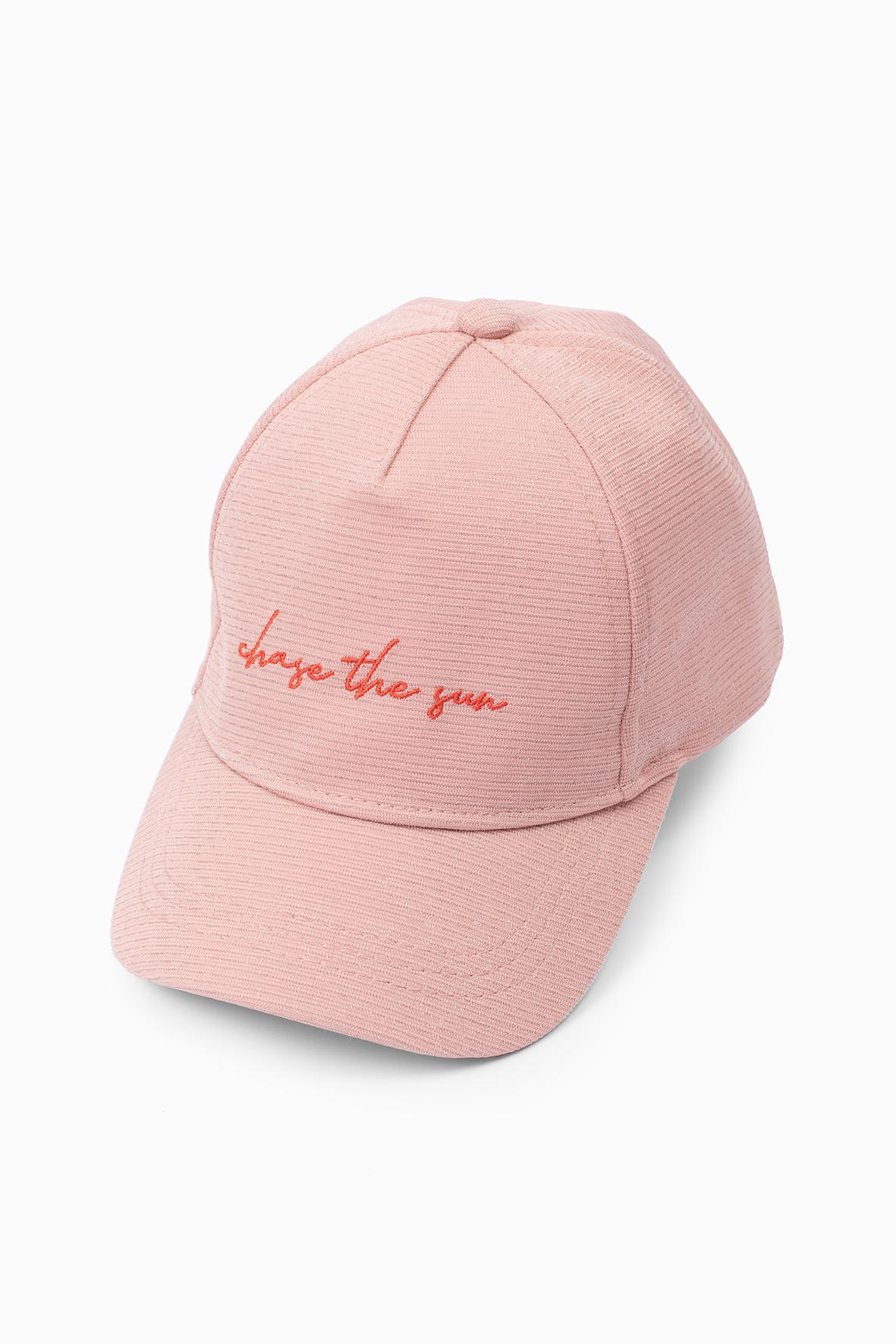Czapka z daszkiem różowa 4X4009