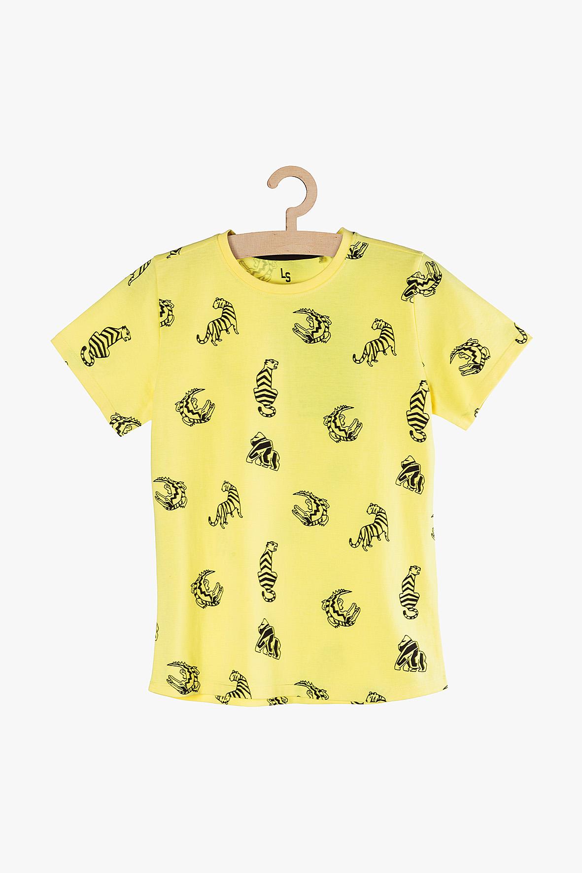 T-Shirt chłopięcy żółty 2I3843