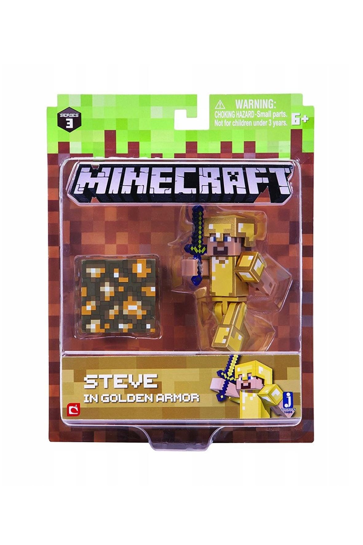 Figurka Steve w złotej zbroi 1Y36OH