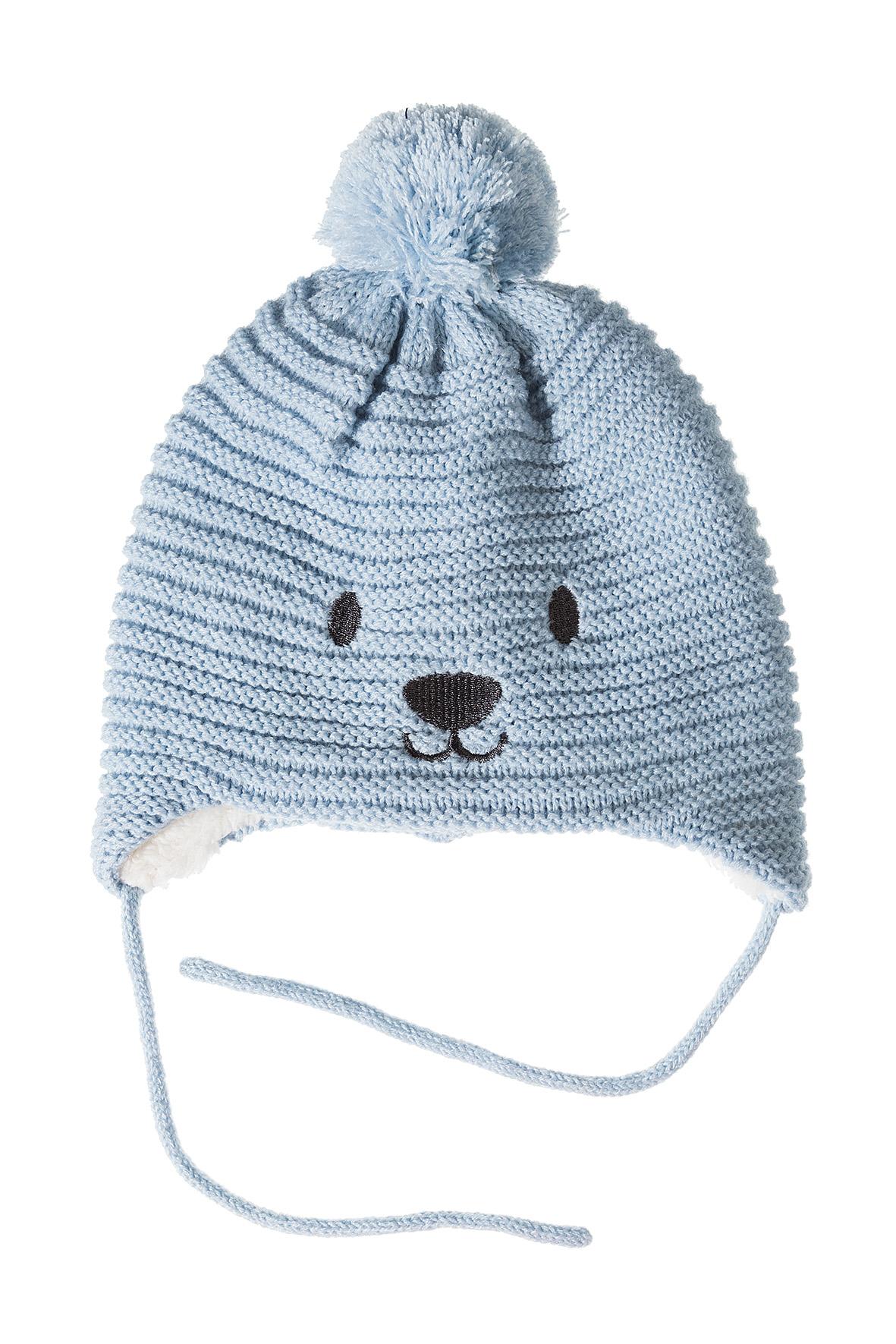 Czapka niemowlęca zimowa wiązana 5X3508
