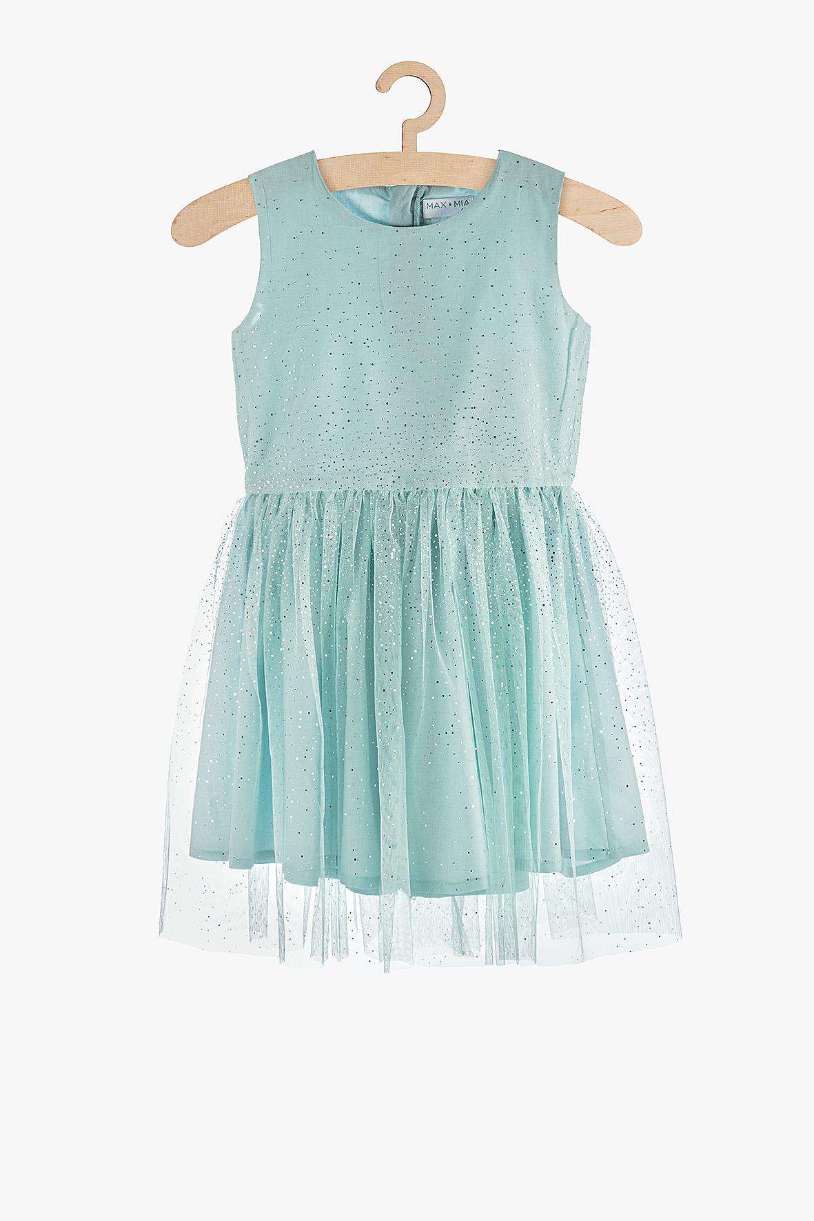 Sukienka dziewczęca niebieska 3K3804