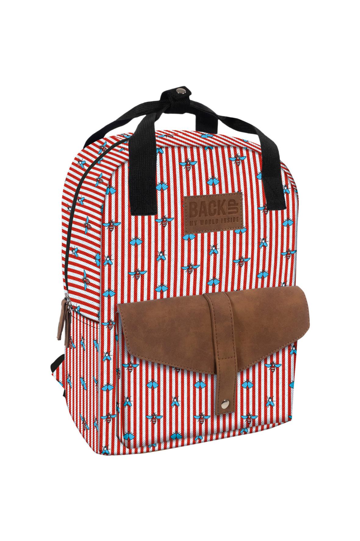 Plecak dziewczęcy czerwony 4Y36CX