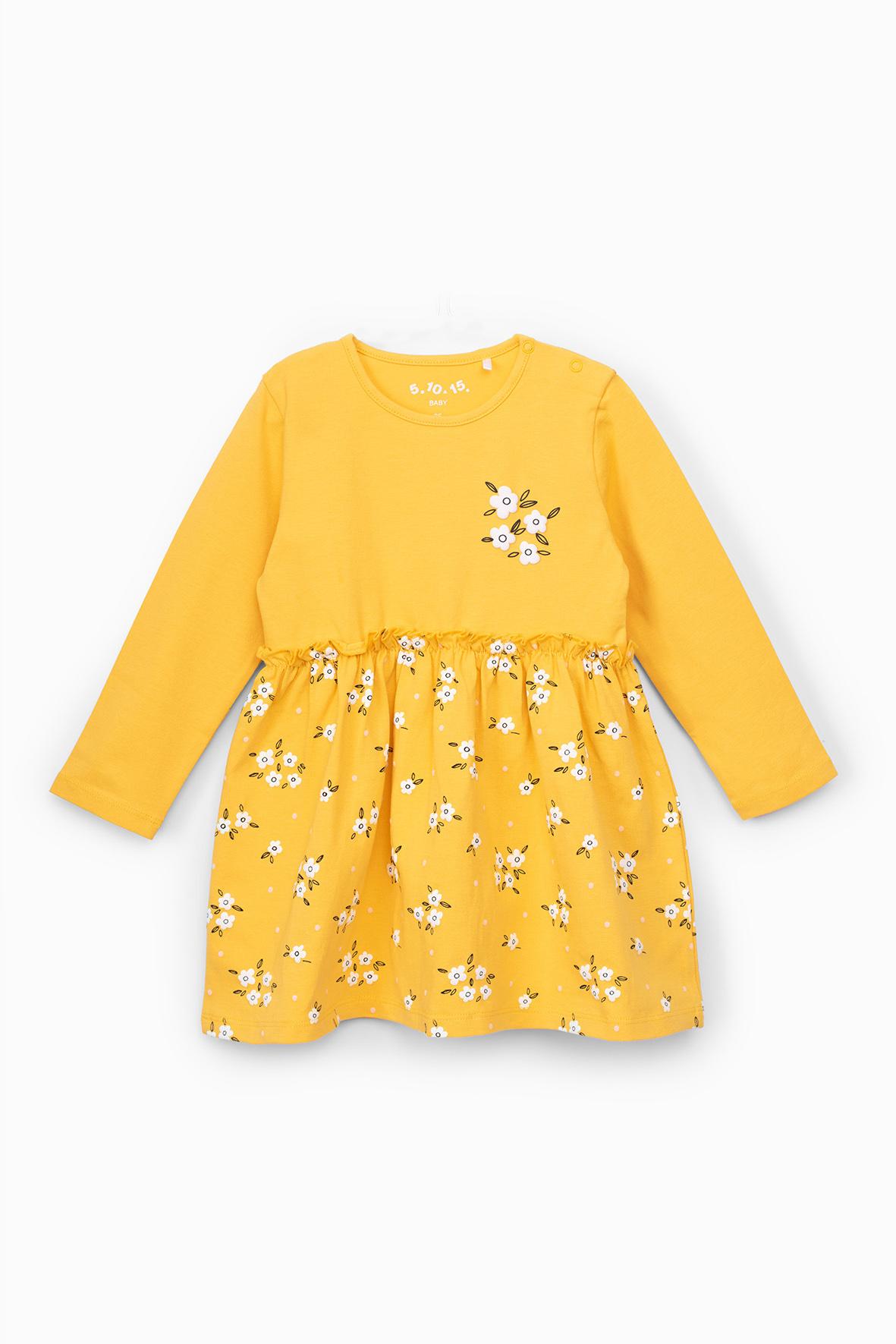 Sukienka dziewczęca w kwiatki 6K4001