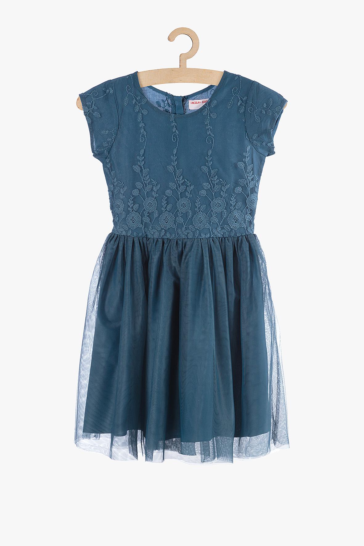 Sukienka dziewczęca niebieska 4K3803