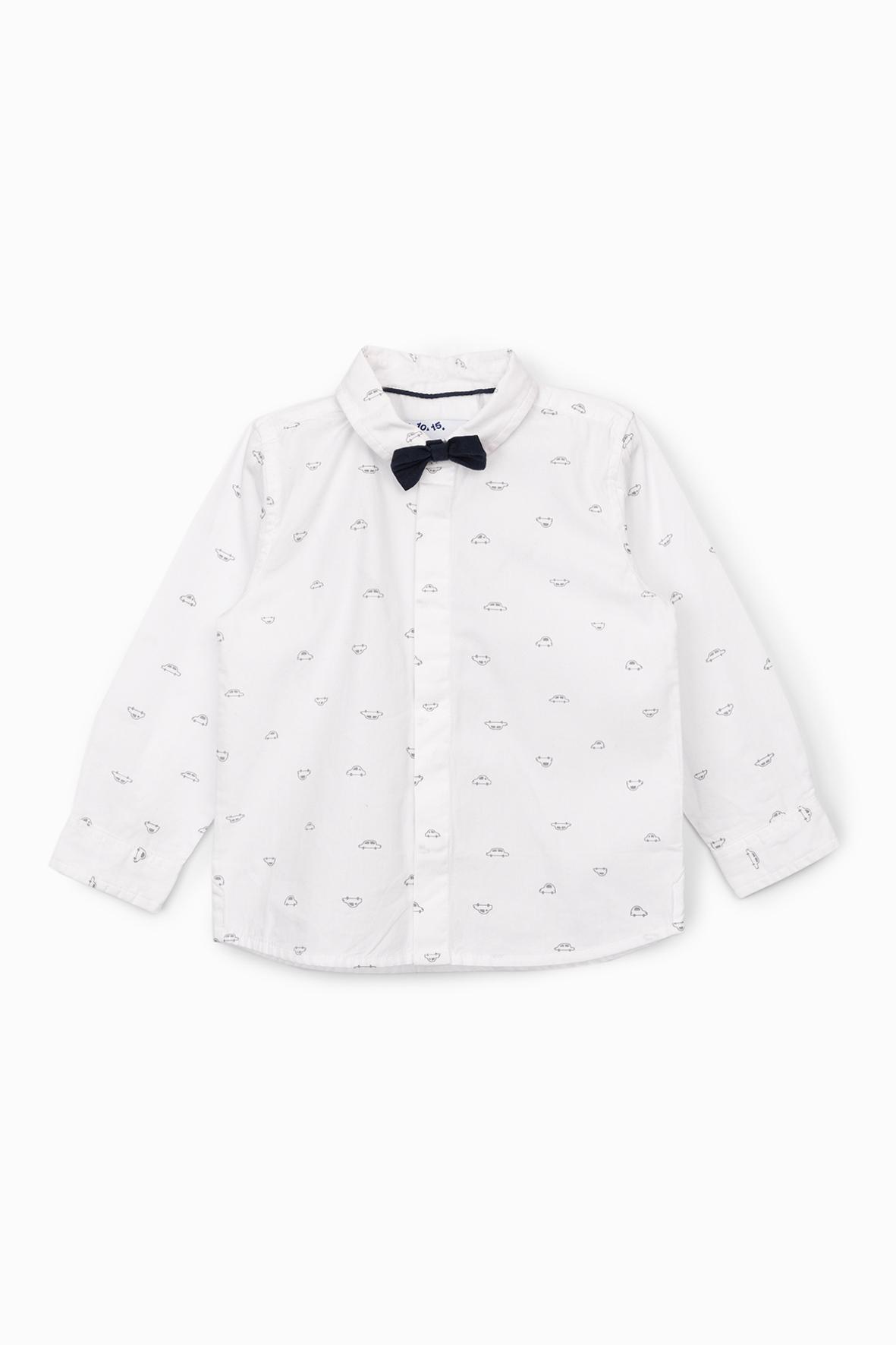 Elegancka biała koszula z muszką 5J4002